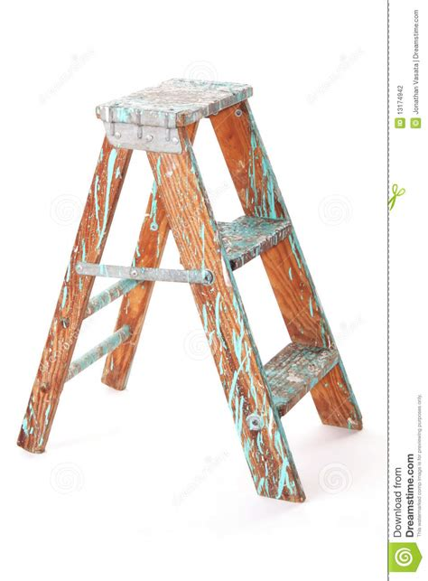 wooden step stool stock photography image