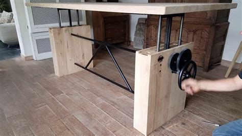 adjustable desk height dt14 adjustable height crank table hoogte verstelbare