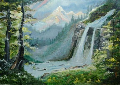 Waterfall Painting   Indrani Goswami   Foundmyself