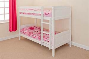 3ft single bunk bed wooden frame in pine white can split With bunk beds that separate into single beds