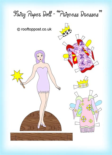 fairy paper doll  princess dresses rooftop post