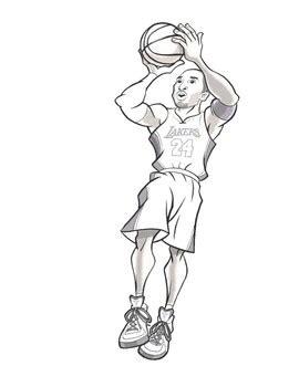 kobe bryant coloring book  coloring book  fantasies  basketball legend
