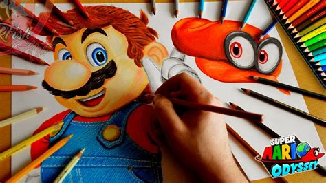 Drawing Mario Odyssey Nintendo Switch L Lookfishart Youtube