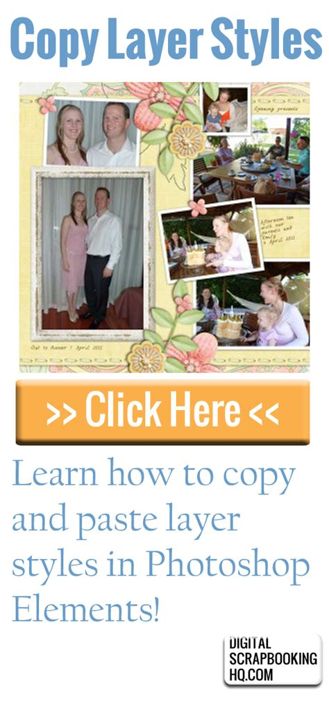 Copy And Paste Layer Styles  Digital Scrapbooking Hq