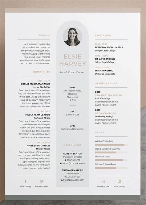 Design Your Own Resume by Resume Cv Template Elsie Our Design Elsie
