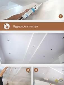 Kalkfarbe Streichen Anleitung : rigipsdecke streichen anleitung tipps ~ Lizthompson.info Haus und Dekorationen