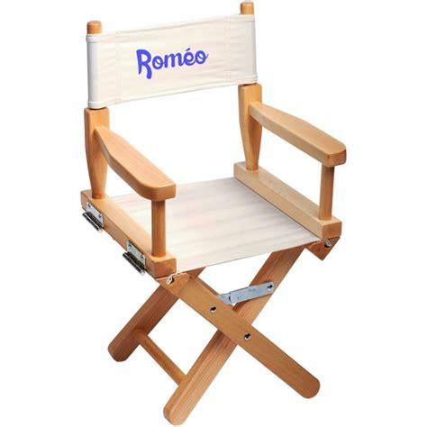chaise de metteur en scène chaise metteur en scène enfant personnalisée naturel ecrue