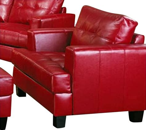 coaster samuel modern tufted chair in bonded leather