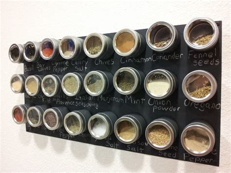 Magnetic Chalkboard Spice Rack by Made Something Today Magnetic Chalkboard Spice Rack