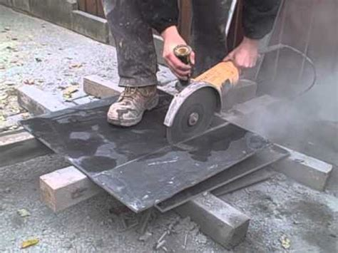 cutting slate using an angle grinder