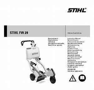 Stihl Fw 20 Cut Off Saw Cart Owners Manual