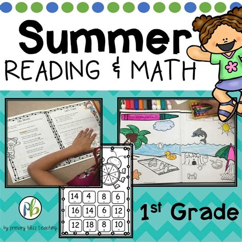 Summer Review No Prep 1st Grade Reading And Math Primary