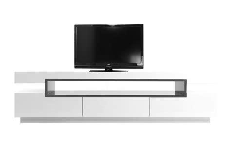 meuble tv design laqu 233 blanc livo meuble tv miliboo ventes pas cher