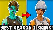 5 BEST SEASON 1 SKINS in Fortnite! (these og skins are ...