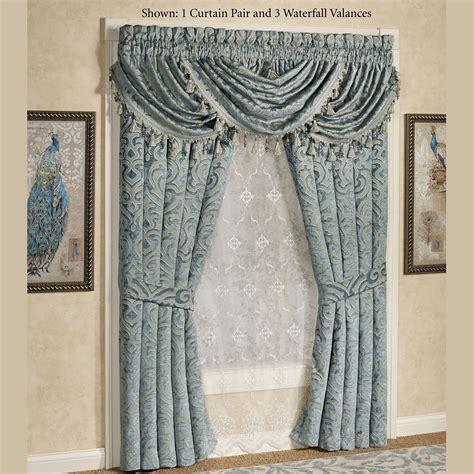 teal window treatments sicily teal medallion window treatment by j queen new york