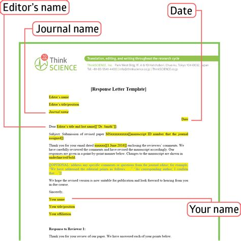 elsevier final templates writing effective response letters to reviewers tips and