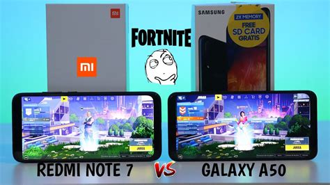 fortnite en xiaomi redmi note   samsung galaxy
