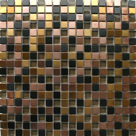 glas metall mosaik fliesen schwarz gold bronze tg10066m