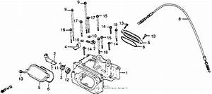 Cylinder Head Cover   Decompression Cable For 1979 Honda