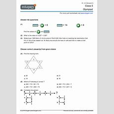 Class 5 Olympiad Printable Worksheets, Online Practice, Online Tests And Problems  Edugain India