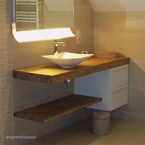 Plan De Meuble : plan de travail bois salle de bain idees images ~ Melissatoandfro.com Idées de Décoration