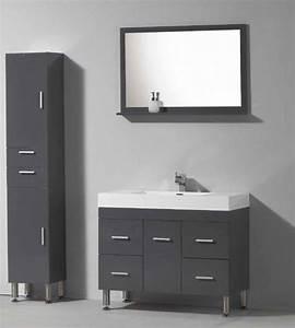 meubles lave mains robinetteries meubles sdb meuble de With meuble de salle de bain gris laqué