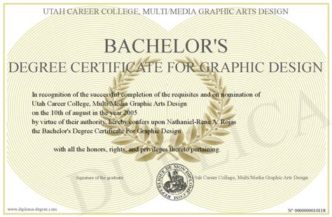 graphic design degree bachelor s degree certificate for graphic design