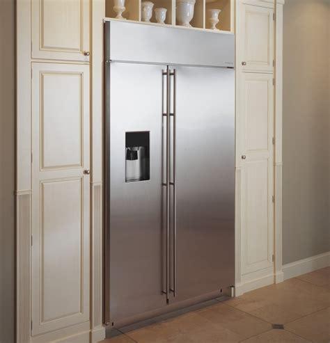 zissdhss monogram  built  side  side refrigerator  dispenser stainless steel