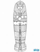 Sarcophagus Egyptian Coloring Egypt Ancient Crafts Mummy Mummies Colors Hellokids sketch template