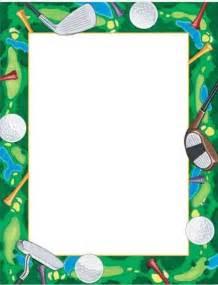 Golf Page Borders Clip Art