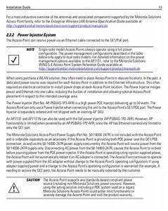 Motorola Solutions Ap7131 Access Point Installation Guide