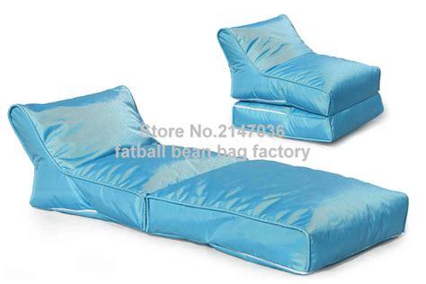 blue portable bean bag chair folding outdoor beanbag