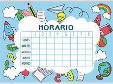 CALENDARIOS y HORARIOS de clase para infantil y primaria
