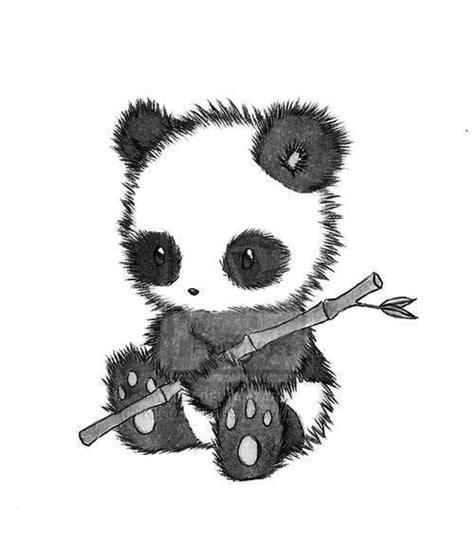 panda holding  bamboo stick drawing art time