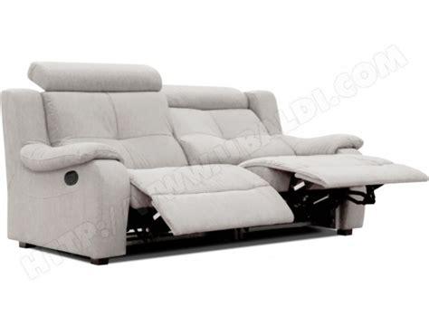 canapé 2 places relaxation électrique canapé microfibre poldem lola 3 places relaxation gris pas