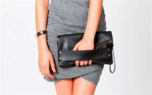 Black Leather Clutch Bag Purse & Multiple by ...