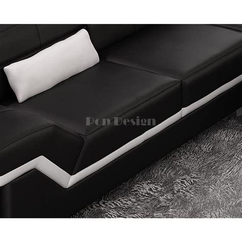 canape d angle luxe design canapé d 39 angle design en cuir torino pouf pop design fr