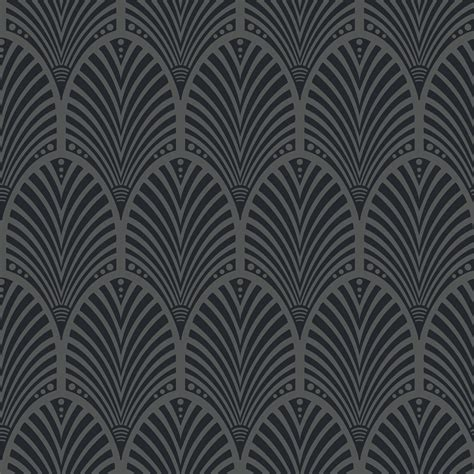 Holden Decor Gatsby Art Deco Arch Glitter Wallpaper
