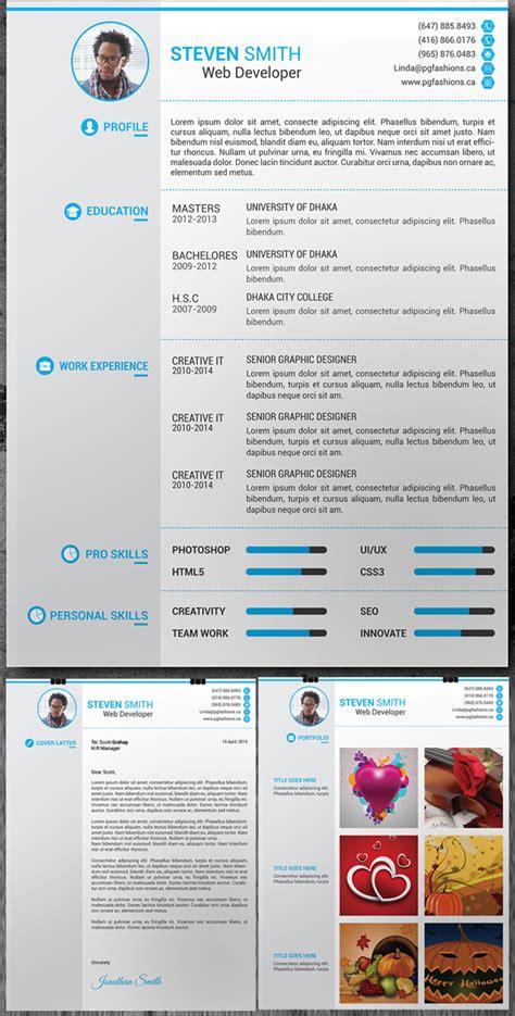Resume Portfolio Free by 15 Free Modern Cv Resume Templates Psd Freebies Graphic Design Junction