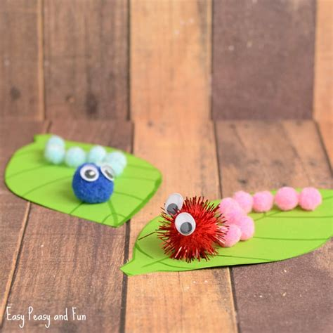 toddlers crafts ideas caterpillar pom pom craft craft ideas easy 3127