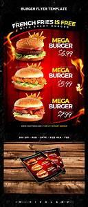 burger flyer template psd design http