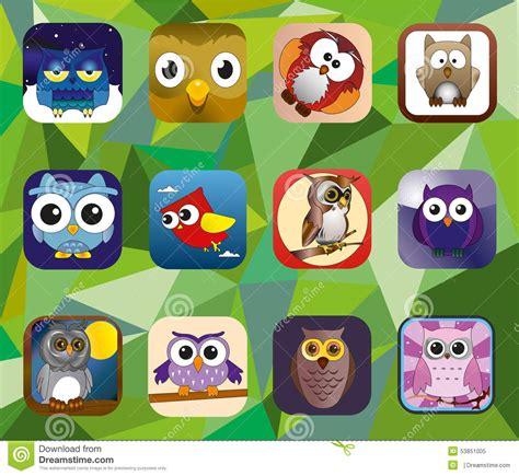 owl set stock vector image