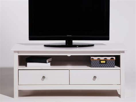 meuble tv avec bureau meuble tv bas en bois massif avec 2 tiroirs longueur 110cm