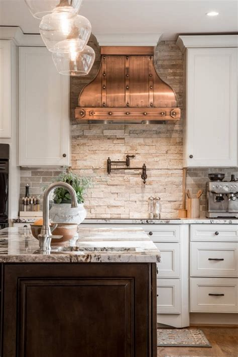 copper kitchen backsplash ideas unique kitchen interior design white cabinets copper