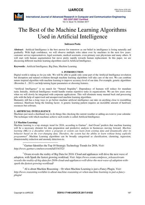 (PDF) The Best of the Machine Learning Algorithms Used in