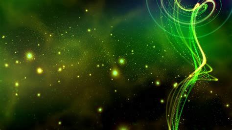 glowing green sparkling waves p  motion