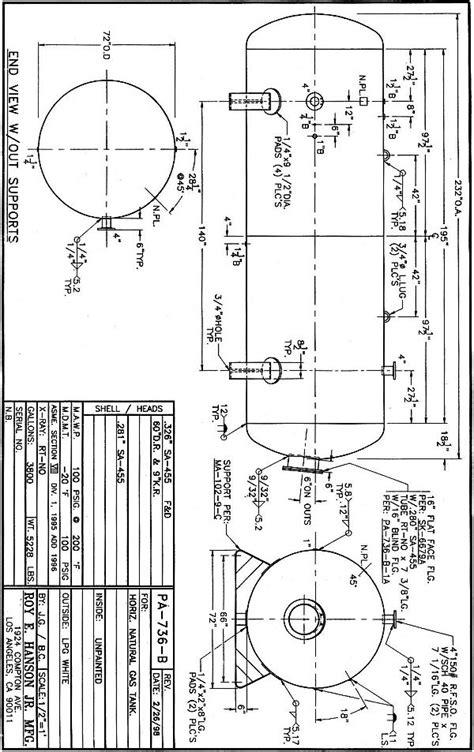 Horizontal Propane Tanks 124-5000 Gallon PA736B - Hanson