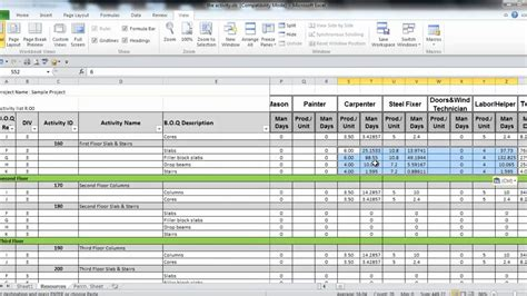 prepare project resources  excel part  youtube
