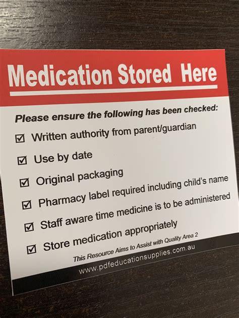 medication storage checklist storing medication