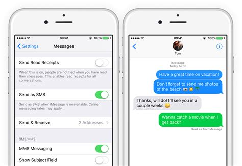 send as text message iphone text messages send an imessage as an sms ios 11 guide